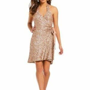 Dress the Population Dresses - Dress the Population Danielle Sequin Wrap Dress